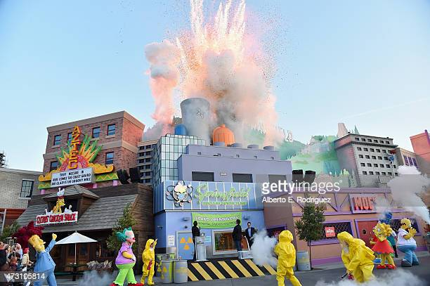 """General view of the atmosphere at the """"Taste of Springfield"""" press event at Universal Studios Hollywood on May 12, 2015 in Universal City, California."""