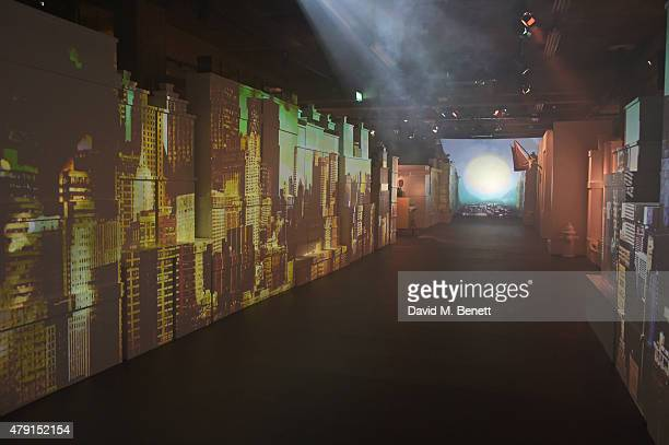 A general view of the atmosphere at the Tiffany Co immersive exhibition 'Fifth 57th' at The Old Selfridges Hotel on July 1 2015 in London England