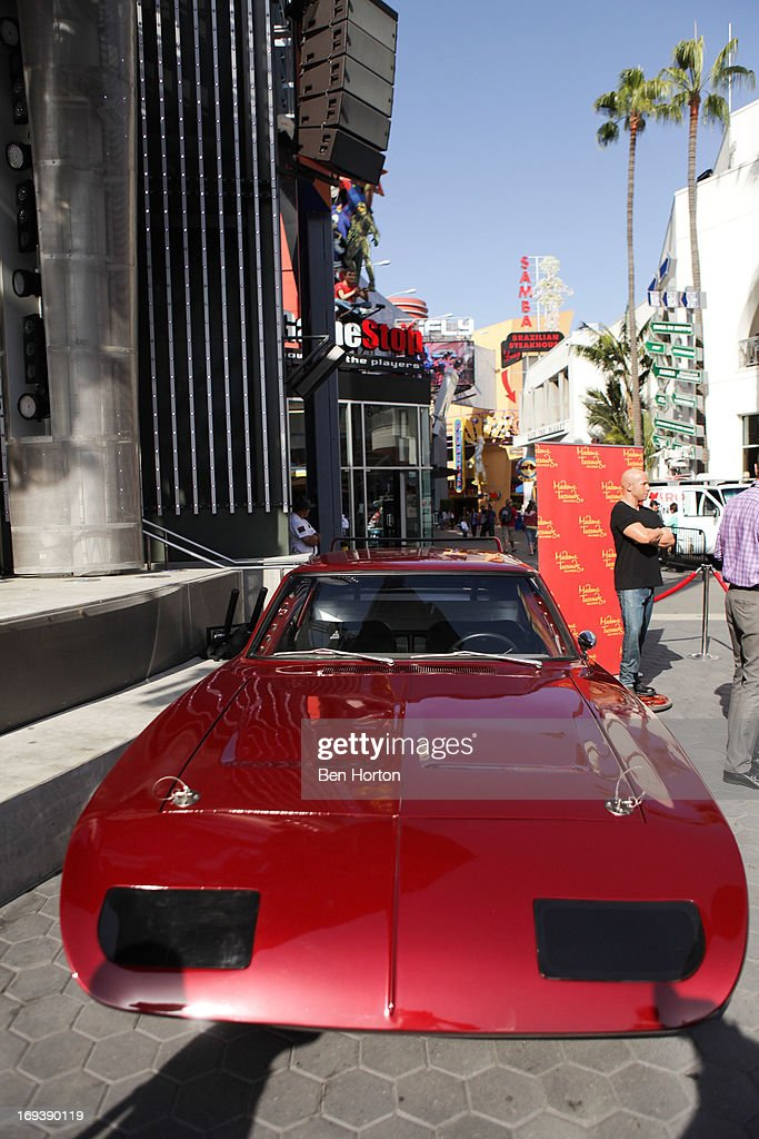 A general view of the atmosphere at the Universal CityWalk 20th anniversary event featuring 8 original cars from the 'Fast & The Furious' Movie Franchise 5 Towers Outdoor Concert Arena on May 23, 2013 in Universal City, California.