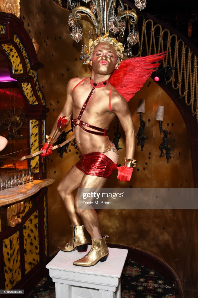 A general view of the atmosphere at the 'Valentines is a Drag' party, in association with the dating app Bumble, at Loulou's on February 14, 2018 in London, England.