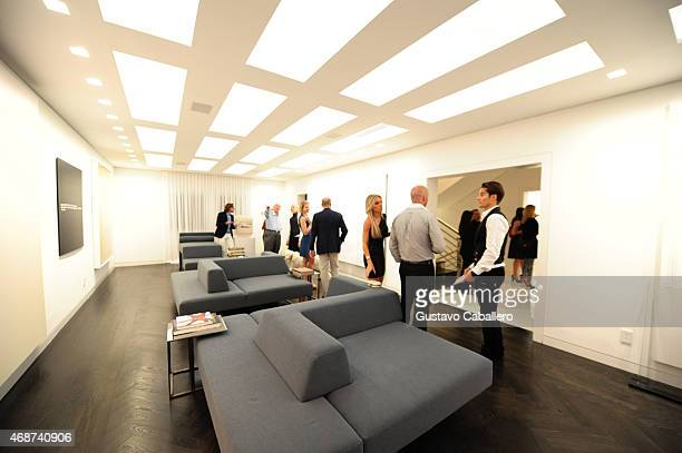 A general view of the atmosphere at the viewing of Fredric S Brandt's Art Collection cocktail party on December 4 2012 in Coconut Grove Florida