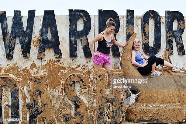 A general view of the atmosphere at the Warrior Dash National 5K obstacle Race Series at Prado Regional Park on March 19 2016 in Chino California