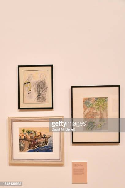 General view of the atmosphere at The Whitechapel Gallery's grand reopening and press view of the upcoming Summer Exhibitions on May 17, 2021 in...