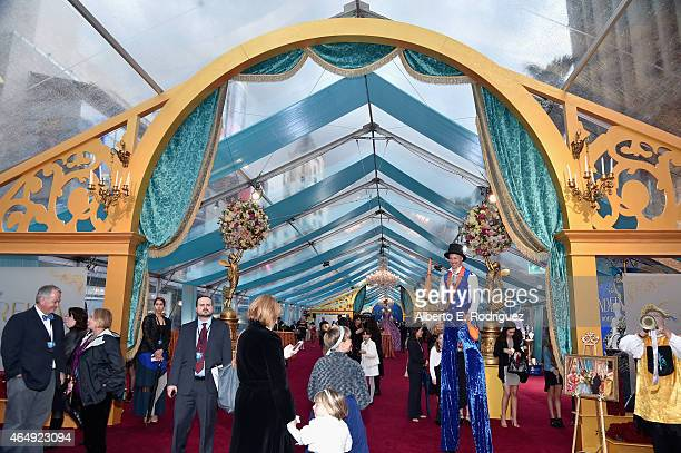 "A general view of the atmosphere at the World Premiere of Disney's ""Cinderella"" Kenneth Branagh's breathtaking liveaction feature at the legendary El..."