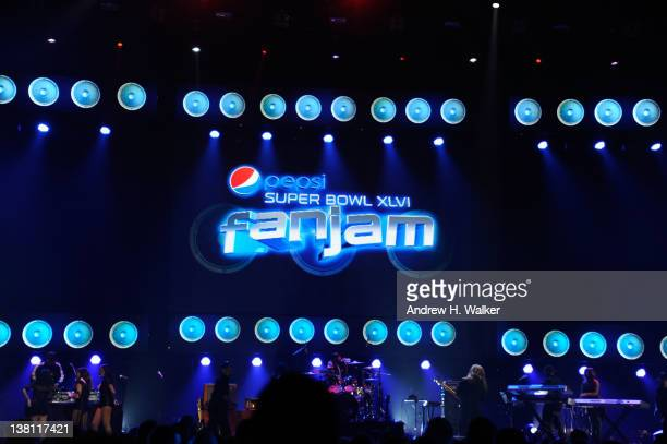 A general view of the atmosphere at Vh1 Pepsi Super Bowl Fan Jam with Gym Class Heroes BoB and AllAmerican Rejects held at Indiana State Fairgrounds...