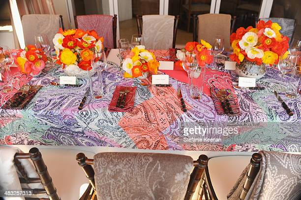 A general view of the atmosphere at Vogue Lunch In Celebration Of The Etro Spring Collection Hosted By Sally Singer at Sunset Tower Hotel on April 3...