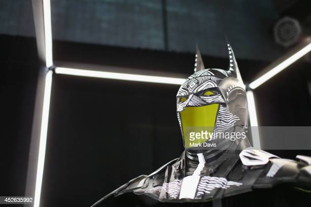 General view of the atmosphere at Warner Bros Interactive Entertainment's 'Cape/Cowl/Create' event a celebration of the iconic character's 75th...