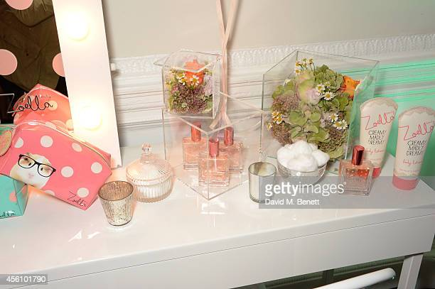 A general view of the atmosphere at YouTube phenomenon Zoe Sugg's launch of her debut beauty collection at 41 Portland Place on September 25 2014 in...