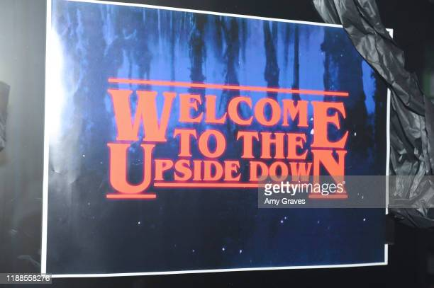 A general view of the atmosphere atTarik Ellinger's 16th Birthday Party In The Upside Down at Starwest Studios on December 13 2019 in Burbank...