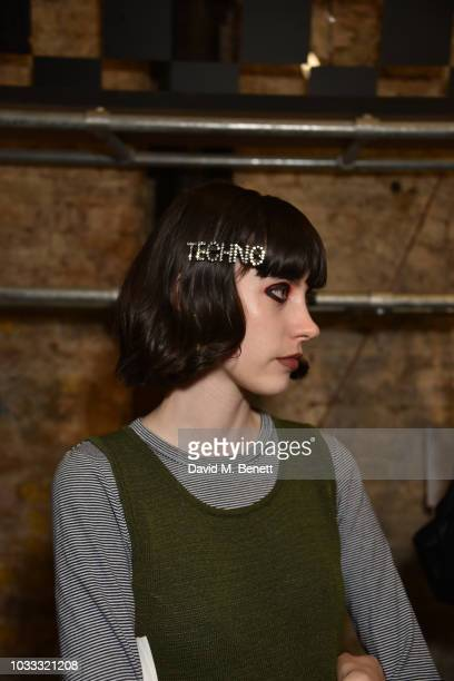 A general view of the atmosphere backstage at the Ashley Williams show during London Fashion Week September 2018 at House of Vans on September 14...