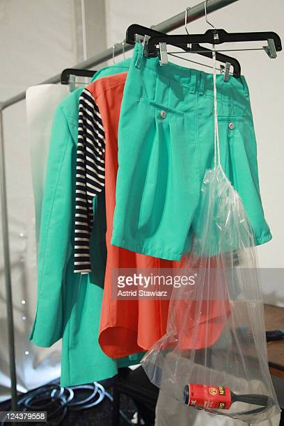 A general view of the atmosphere backstage at the General Idea Spring 2012 fashion show during MercedesBenz Fashion Week at The Studio at Lincoln...