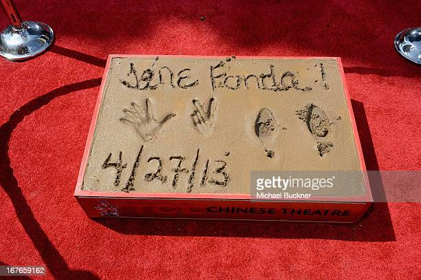 General view of the atmosphere during actress Jane Fonda's Handprint/Footprint Ceremony during the 2013 TCM Classic Film Festival at TCL Chinese...