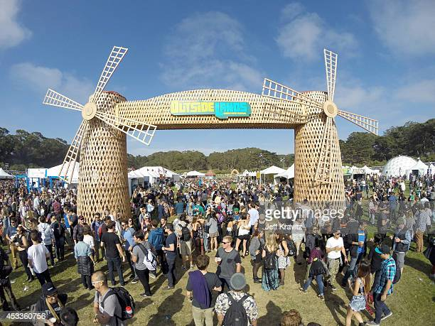 A general view of the atmosphere during day 1 of the 2014 Outside Lands Music and Arts Festival at Golden Gate Park on August 8 2014 in San Francisco...