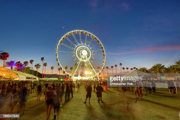 General view of the atmosphere during day 2 of the 2013 Coachella Valley Music & Arts Festival at the Empire Polo Club on April 13, 2013 in Indio,...