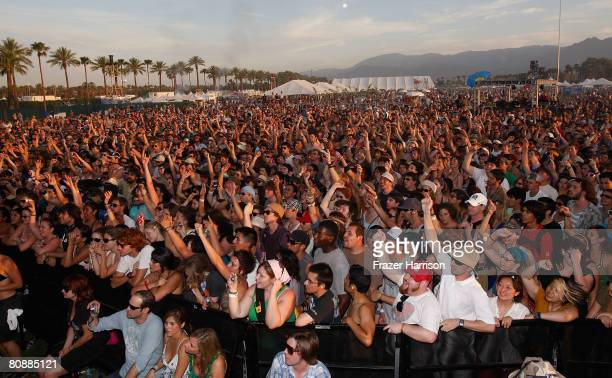 A general view of the atmosphere during day 3 of the Coachella Valley Music and Arts Festival held at the Empire Polo Field on Sunday April 27 in...