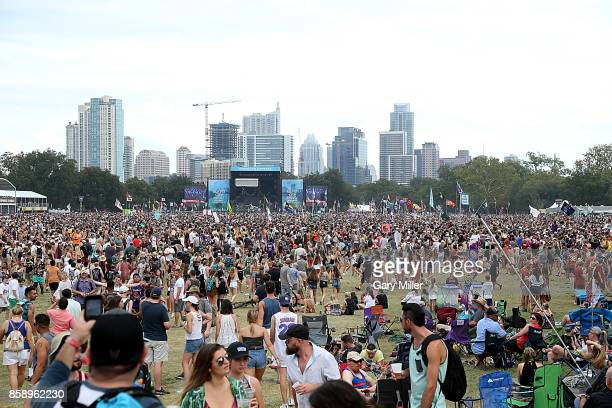 A general view of the atmosphere during day two of the first week of Austin City Limits Music Festival at Zilker Park on October 7 2017 in Austin...
