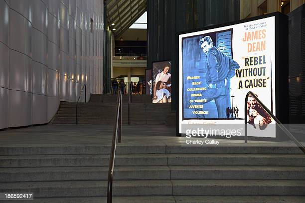 """General view of the atmosphere during Gucci's presentation of The Restoration Premiere of """"Rebel Without A Cause"""" at LACMA on November 1, 2013 in Los..."""
