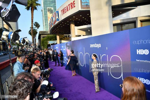 A general view of the atmosphere during HBO's Euphoria premiere at the Arclight Pacific Theatres' Cinerama Dome on June 04 2019 in Los Angeles...