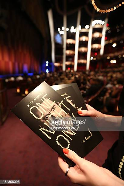 A general view of the atmosphere during Hugh Jackman One Night Only Benefiting MPTF at Dolby Theatre on October 12 2013 in Hollywood California