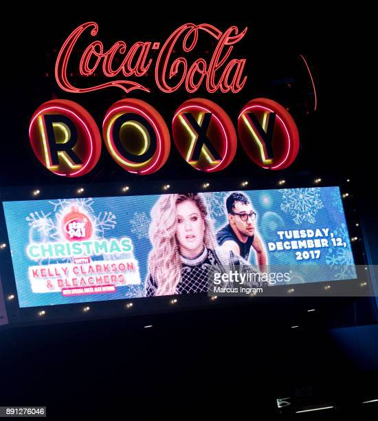 A general view of the atmosphere during Kelly Clarkson and Bleachers in concert at CocaCola Roxy on December 12 2017 in Atlanta Georgia