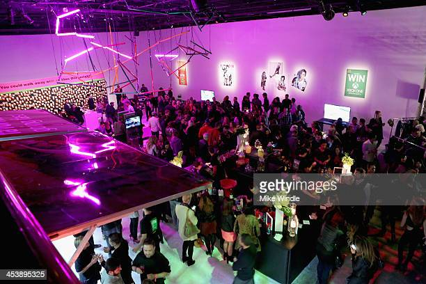 A general view of the atmosphere during NYLON McDonald's Dec/Jan issue launch party hosted by cover star Demi Lovato on December 5 2013 in West...