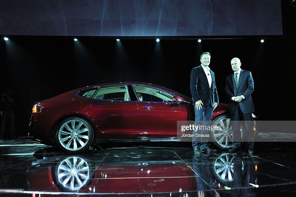 Tesla Worldwide Debut of Model X : News Photo