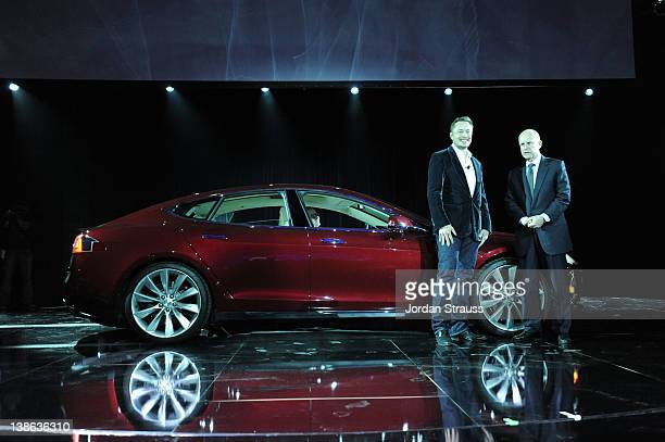 General view of the atmosphere during Tesla Worldwide Debut of Model X on February 9 2012 in Los Angeles California