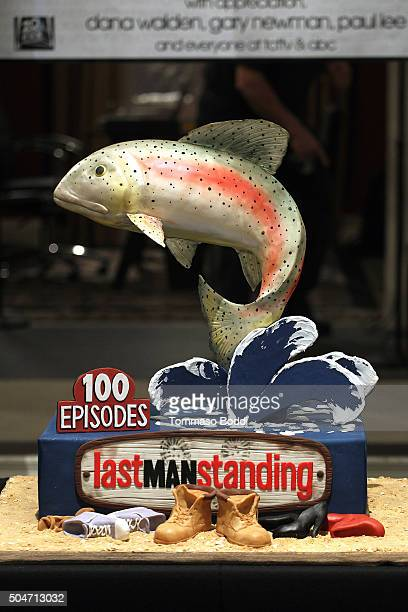 "General view of the atmosphere during the 100th episode celebration of ABC's ""Last Man Standing"" held at CBS Studios - Radford on January 12, 2016 in..."