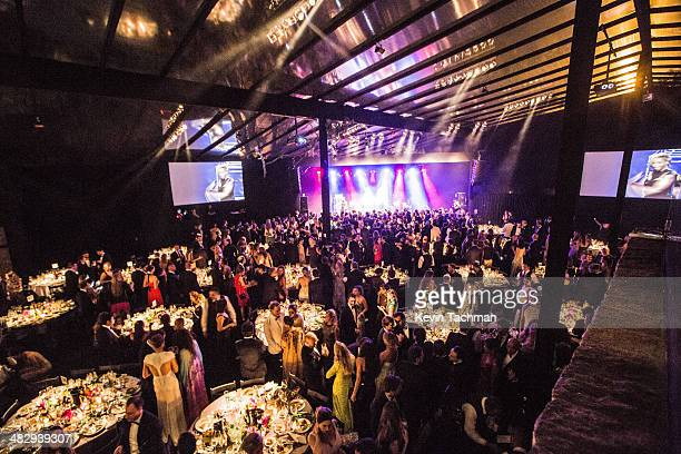 A general view of the atmosphere during the 2014 amfAR's Inspiration Gala Sao Paulo on April 4 2014 in Sao Paulo Brazil
