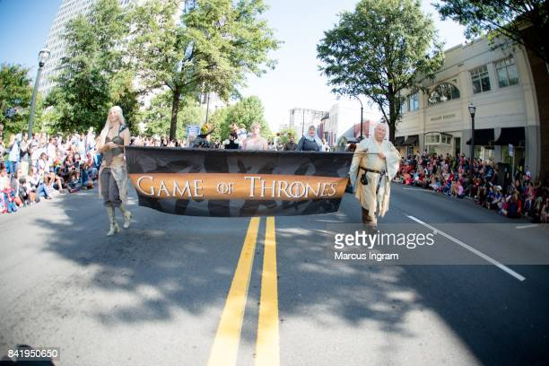 A general view of the atmosphere during the 2017 DragonCon Parade on September 2 2017 in Atlanta Georgia DragonCon is a multimedia convention held...