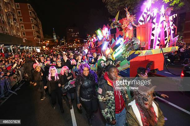 A general view of the atmosphere during the 42nd Annual Village Halloween Parade on October 31 2015 in New York City
