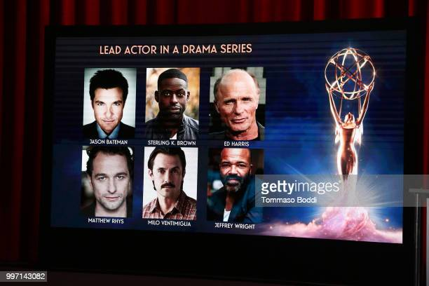A general view of the atmosphere during the 70th Emmy Awards Nominations Announcement at Saban Media Center on July 12 2018 in North Hollywood...