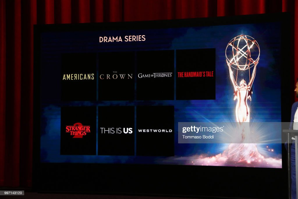 A general view of the atmosphere during the 70th Emmy Awards Nominations Announcement at Saban Media Center on July 12, 2018 in North Hollywood, California.