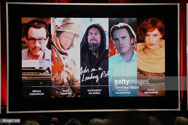 A general view of the atmosphere during the 88th Oscars Nominations Announcement at Academy Of Motion Picture Arts And Sciences on January 14 2016 in...