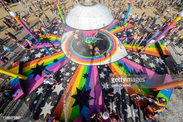 General view of the atmosphere during the Bonnaroo Music & Arts Festival on June 16, 2019 in Manchester, Tennessee.