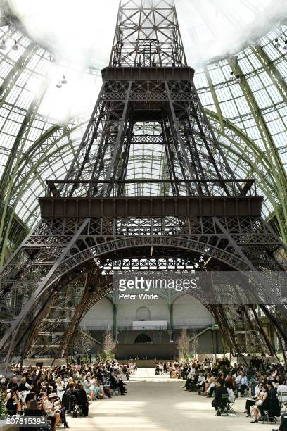A general view of the atmosphere during the Chanel Haute Couture Fall/Winter 20172018 show as part of Haute Couture Paris Fashion Week on July 4 2017...