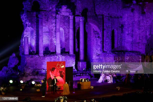 A general view of the atmosphere during the closing night of the Taormina Film Festival on July 19 2020 in Taormina Italy
