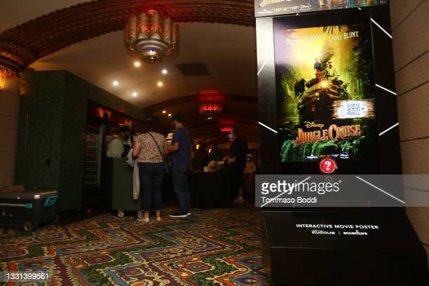 """General view of the atmosphere during the El Capitan Theatre Hosts Opening Night Fan Event For Disney's """"Jungle Cruise"""" at El Capitan Theatre on July..."""