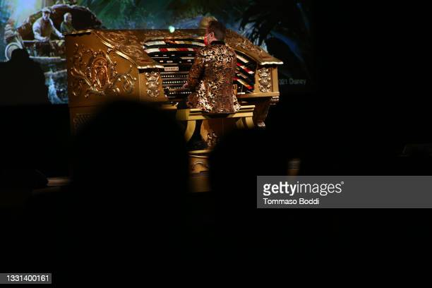 """General view of the atmosphere during the El Capitan Theatre hosts the Opening Night Fan Event for Disney's """"Jungle Cruise"""" at El Capitan Theatre on..."""