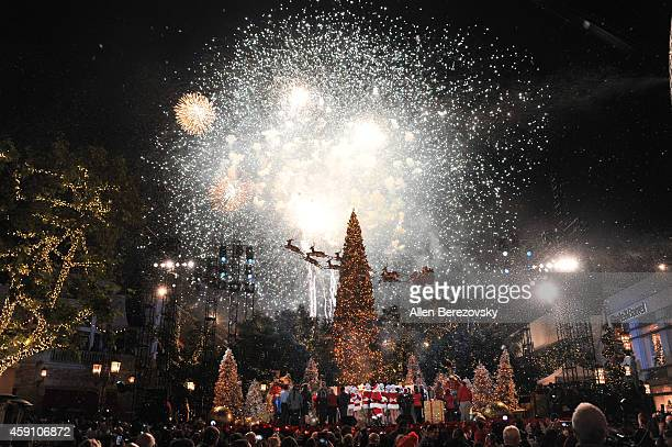 A general view of the atmosphere during The Grove's 12th Annual Christmas Tree Lighting Spectacular at The Grove on November 16 2014 in Los Angeles...