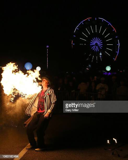 A general view of the atmosphere during the inaugural Astroworld Festival at NRG Park on November 17 2018 in Houston Texas