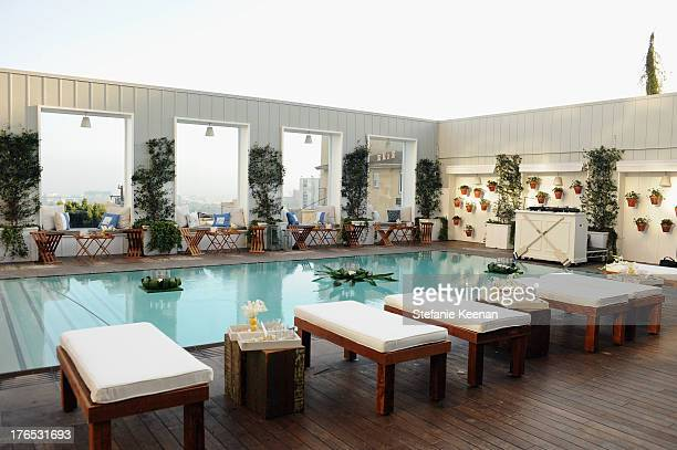 A general view of the atmosphere during the InStyle Summer Soiree held Poolside at the Mondrian hotel on August 14 2013 in West Hollywood California