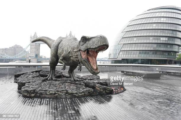 A general view of the atmosphere during the 'Jurassic World Fallen Kingdom' photocall at London Bridge on May 24 2018 in London England