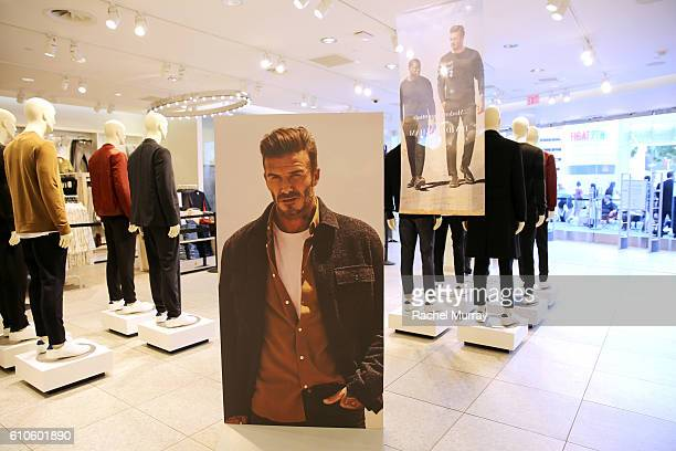 General view of the atmosphere during the launch of David Beckham's H&M Modern Essentials Collection on September 26, 2016 in H&M at FIGat7th in Los...