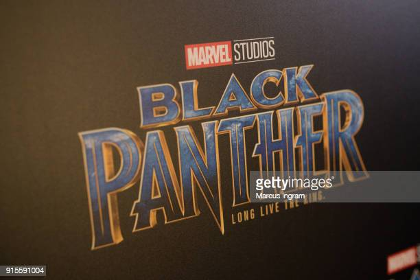 A general view of the atmosphere during the Marvel Studios 'Black Panther' Atlanta movie screening at The Fox Theatre on February 7 2018 in Atlanta...