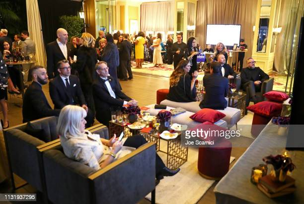 A general view of the atmosphere during the MercedesBenz USA Awards Viewing Party at Four Seasons Los Angeles at Beverly Hills on February 24 2019 in...