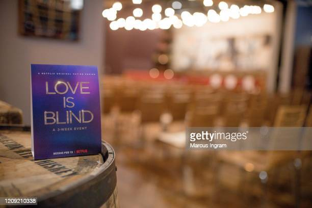 A general view of the atmosphere during the Netflix's Love is Blind VIP viewing party at City Winery on February 27 2020 in Atlanta Georgia