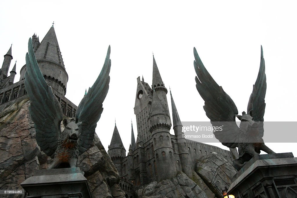 A general view of the atmosphere during the official opening of 'The Wizarding World Of Harry Potter' At Universal Studios Hollywood on April 7, 2016 in Universal City, California.