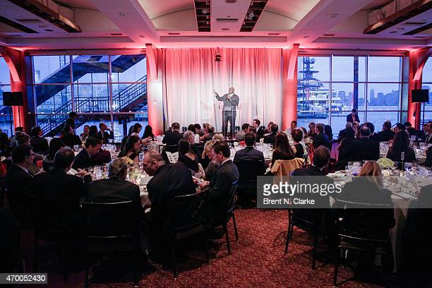 A general view of the atmosphere during the Scribbles To Novels 10th Anniversary Gala held at Pier Sixty at Chelsea Piers on April 16 2015 in New...