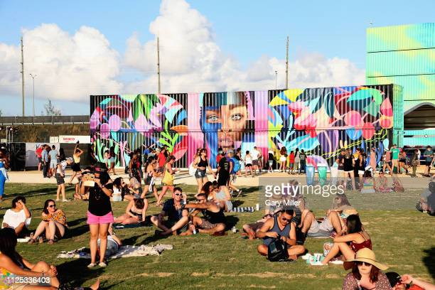 A general view of the atmosphere during the sold out inaugural KAABOO Cayman Festival at Seven Mile Beach on February 15 2019 in Grand Cayman Cayman...
